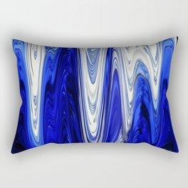 Zigzag Cobalt Blue Rectangular Pillow