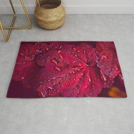 Pink Leaf Pattern Rug