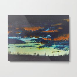 Sunset, Chapman Corner Metal Print