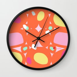 INTERPRETATION in ORANGE Wall Clock