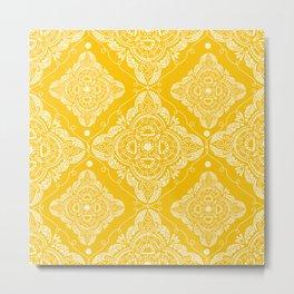 Damsak Yellow Metal Print