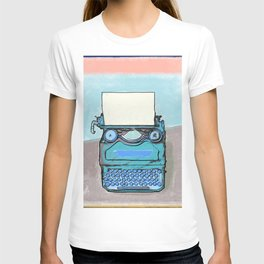 Writer's Muse -Typewriter T-shirt
