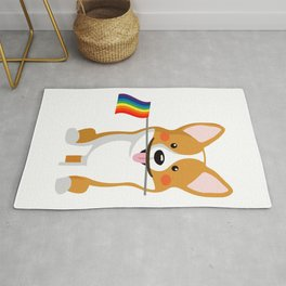 LGBT Gay Pride Flag Corgi - Pride Women Gay Men Rug