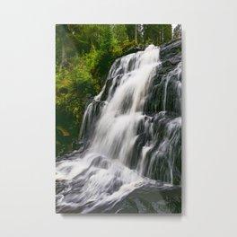 Waterfall, Sweden Metal Print