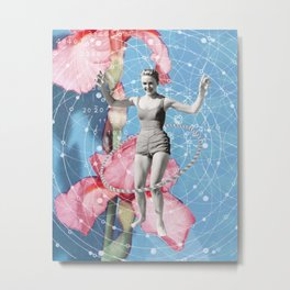 On Joy // Hula-hooping Metal Print