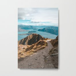 Mountain Path Roys Peak New Zealand Metal Print
