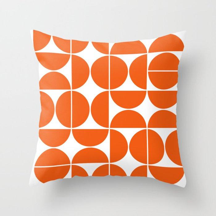 Mid Century Modern Geometric 04 Orange Deko-Kissen