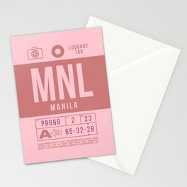 Baggage Tag B - MNL Manila Philippines Stationery Cards