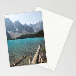 Moraine Lake Logs Stationery Cards