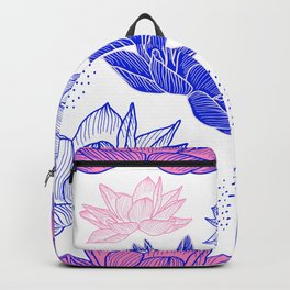 Hand Drawn Inked Flowers Backpack