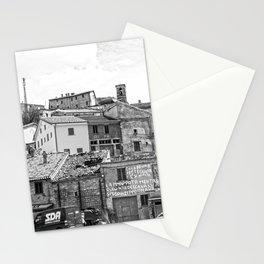 Italian mountain village Stationery Cards
