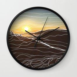 Sunrise Goat Rock 1 Wall Clock