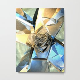 Abstract Macro Structure Metal Print
