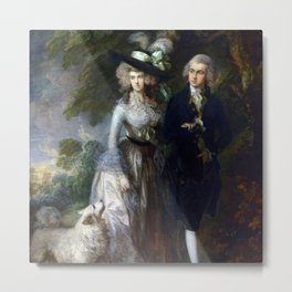 "Thomas Gainsborough ""Mr and Mrs William Hallett ('The Morning Walk')"" Metal Print"