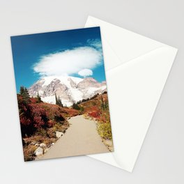 Mt Rainier in Autumn Stationery Cards