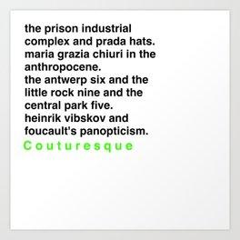 Critical Theory.. But Make It Fashion Art Print