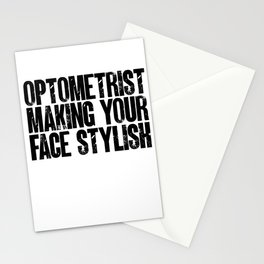 Optometrist Gifts Making Your Face Stylish Optometry Gift Stationery Cards
