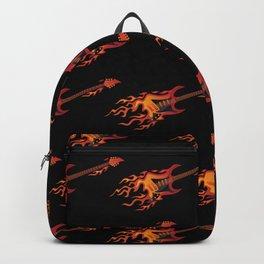 Flying Burning Guitar Illustration Backpack