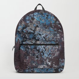 Dirty Rust Blue Paint Backpack