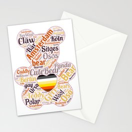 Gay bear grrr woof bear pride season queer art  Stationery Cards