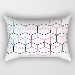 None of Your Beeswax - Pastel on White Rectangular Pillow
