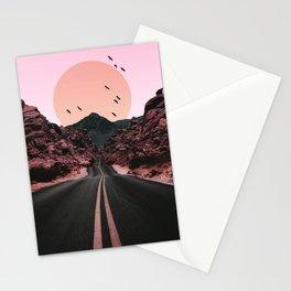 Birds Sun Road Stationery Cards