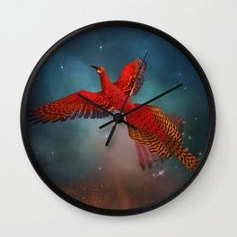 Arise like a phoenix Wall Clock