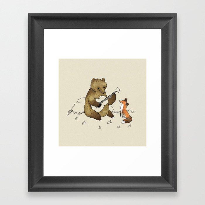 Bear & Fox Gerahmter Kunstdruck