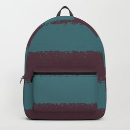 Deep Purple Aqua Thick 4 Stripe Pattern Pairs 2021 Color of the Year Epoch and Whale Tail Backpack