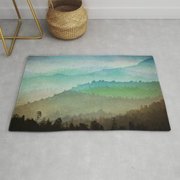 Watercolor Hills Rug
