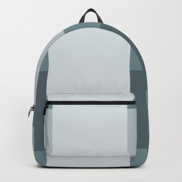 Gray Blue Squares Minimalistic Gift Backpack
