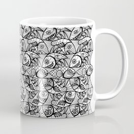 Escher Style Fishes in black & White Coffee Mug