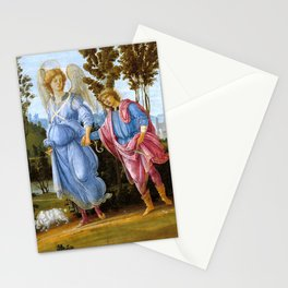 "Filippino Lippi ""Tobias and the angel"" Stationery Cards"