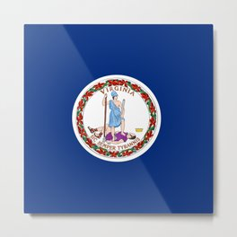 flag virginia,america,usa,south,Dominion,Mother of Presidents,Mother of States,Pocahontas Metal Print