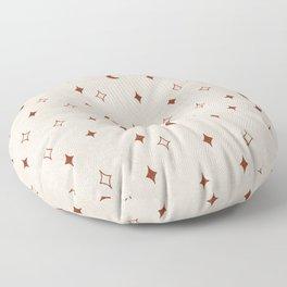 moon and stars - rust/chiffon Floor Pillow