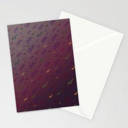 Local Upper Peninsula of Michigan Burgundy Sunset Pattern Stationery Cards