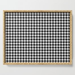 Monochrome Black & White Houndstooth Serving Tray