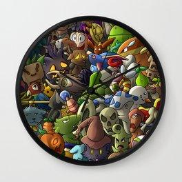 all terrarias pets- Digital version Wall Clock