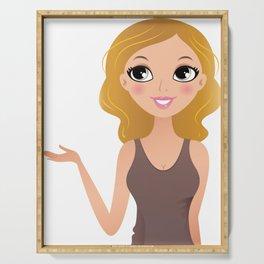Cute digi illustration Serving Tray