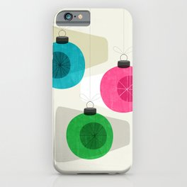 Retro Holiday Baubles iPhone Case
