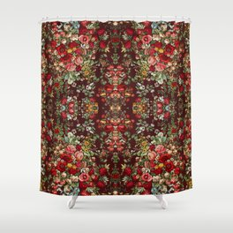 Chintz flowers pattern from the Industrial arts of the Nineteenth Century by Sir Matthew Digby wyatt Shower Curtain