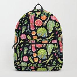 Spring Harvest Pattern Dark Backpack