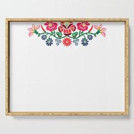 Hungarian Kalocsai folk art - embroidery design T-shirt Serving Tray