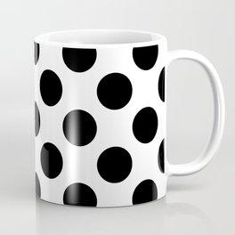 Black Large Polka Dots Pattern Coffee Mug
