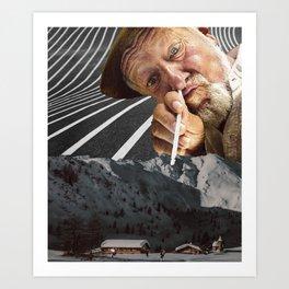 Trippy collage Art Print