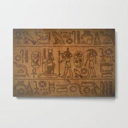 Egyptian Hieroglyphic Art Metal Print