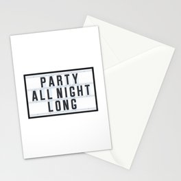 Party all Night long Stationery Cards