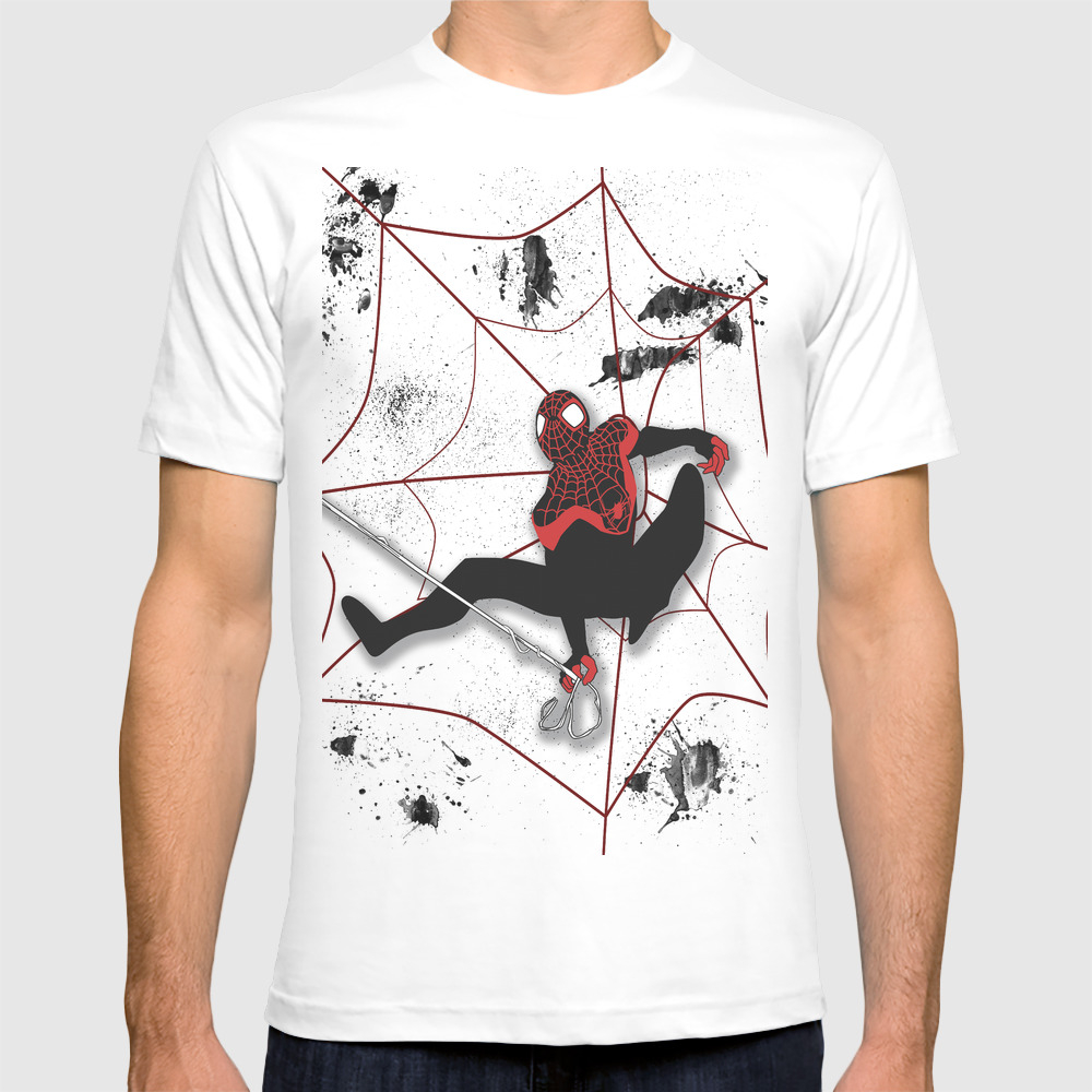 Ultimate Spider-man Miles Morales T-shirt by Valeriesalmon TSR1038134