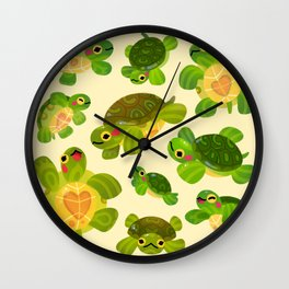 Red-eared slider Wall Clock