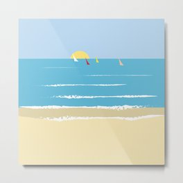 Sails from the beach Metal Print